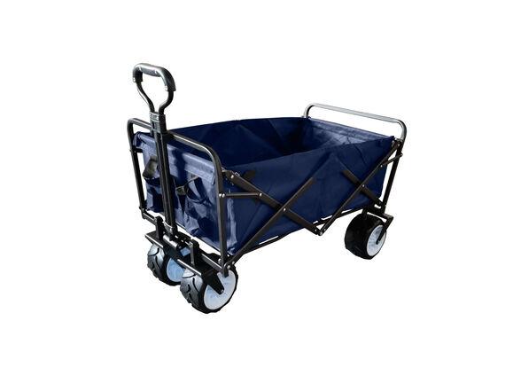 עגלת קמפינג מתקפלת קלת משקל בצבע כחול נייבי  | בעלת גלגלי טראק עבים במיוחד לנסיעה בחול | מבית Swiss camp , , large image number null
