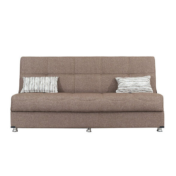 ספה 3 מושבים נפתחת למיטה + ארגז מצעים דגם AURORA | ארבעה צבעים לבחירה_חום, , large image number null