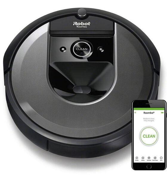 iRobot Roomba i7 שואב אבק רובוטי מציג את הניקיון של הדור הבא. מערכת הניקוי התלת-שלבית פרמיום עושה שימוש במברשות גומי כפולות למשטחים רבים ושונים ומערכת יניקה חזקה פי 10 , , large image number null
