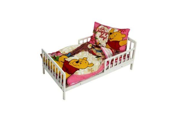 סט מצעים למיטת תינוק ומעבר 100% כותנה   דגם פו ורוד, , large image number null