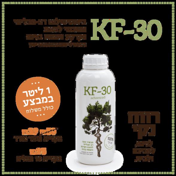 דשן נוזלי KF-30 תכשיר הזנה רב תכליתי להזנת הקרקע והצומח בגינה 1 ליטר, , large image number null