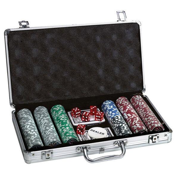 מזוודת פוקר מקצועית לשחקנים 300 זיטונים 11.5 גרם, , large image number null