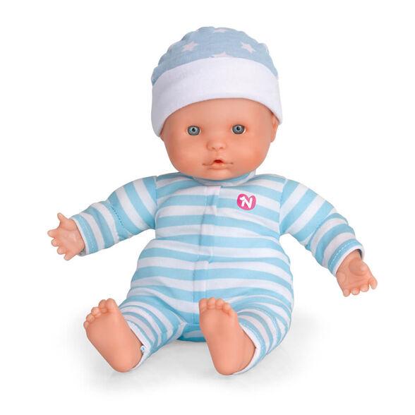 """בובת ננוקו - NENUCO רכה בגובה 25 ס""""מ אשר משמיעה 3 קולות תינוק כאשר לוחצים על הידיים או הרגליים, , large image number null"""