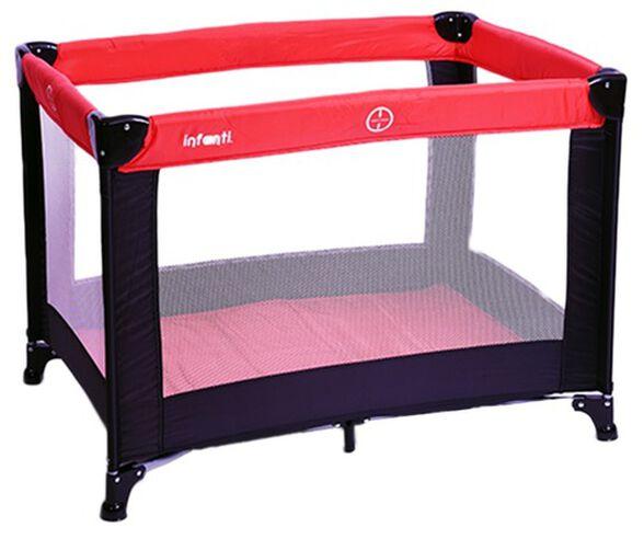 לול קמפינג / מיטה ניידת לתינוק LUNA עם רשת ב 4 צדדים ותיק נשיאה - אדום/שחור, , large image number null