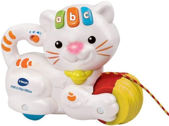 חתול משיכה מעודד הליכה -לבן, , large image number null