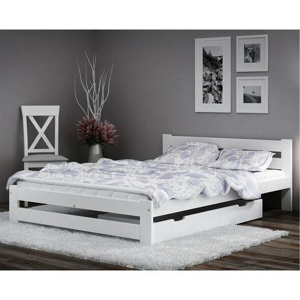 """מיטה זוגית דגם MIRA מעץ מלא עם ארגז מצעים למזרן 140*190 ס""""מ מבית BRADEX, , large image number null"""