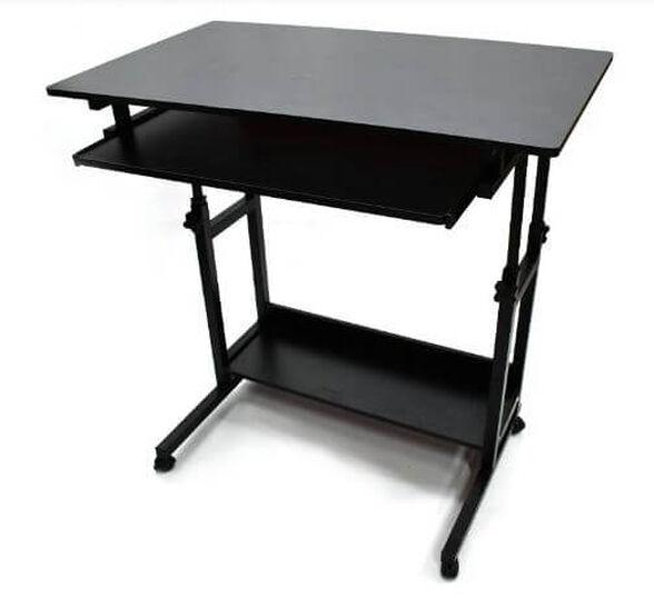 שולחן מחשב מפואר MSH-1-33 ממתכת ועץ מבית ROSSO ITALY רוחב 0.8 מטר, , large image number null
