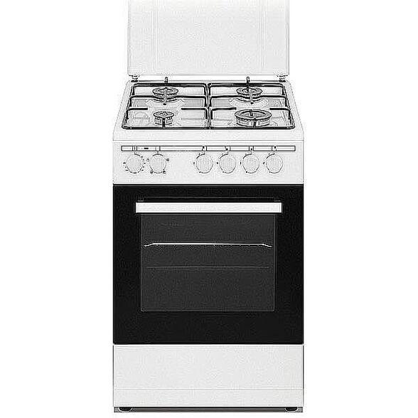"""תנור משולב כיריים גז 50 ס""""מ בנפח 50 ליטר , בעל 4 מבערים ו - 4 תוכניות בישול ואפייה מבית SONAB דגם SN-5005WH- גימור לבן , , large image number null"""