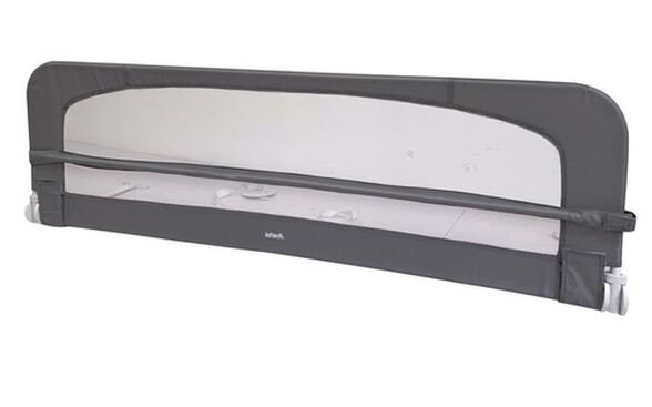 מגן מיטה רחב 1.5 מטר - אפור כהה, , large image number null