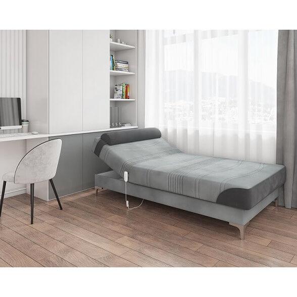 מיטה נוער חשמלית אורטופדית מבית RAM DESIGN דגם גאיה כולל כרית ראש ורגלי ניקל, , large image number null