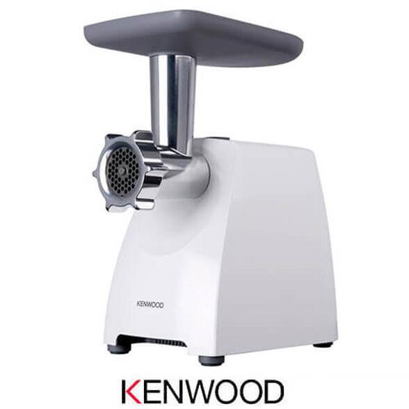 מטחנת בשר מקצועית KENWOOD דגם MG-360 בעל מנוע 1400 וואט MAX LOCKED MOTOR עם 3 רשתות / דסקיות דקה | כולל אביזר מיוחד להכנת קובה וקבב  , , large image number null