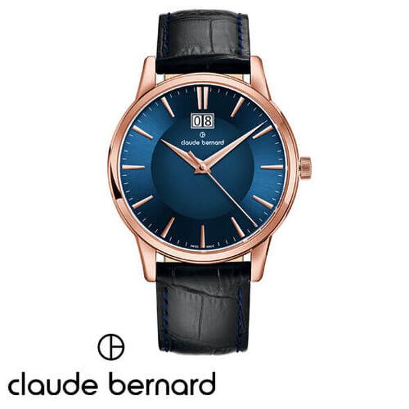שעון יד שוויצרי לגבר מבית CLAUDE BERNARD עשוי פלדת אל חלד וזכוכית ספיר ועמיד במים עד 50M, , large image number null