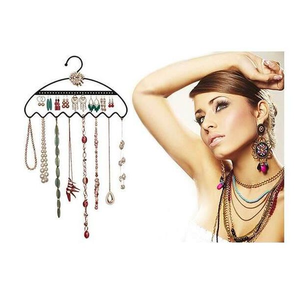 קולב תכשיטים מעוצב - פתרון מושלם לתליית תכשיטים בארון או על הקיר   יחידה נוספת בהנחה, , large image number null