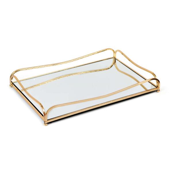 מגש מראה עם מסגרת זהב |  novell collection, , large image number null