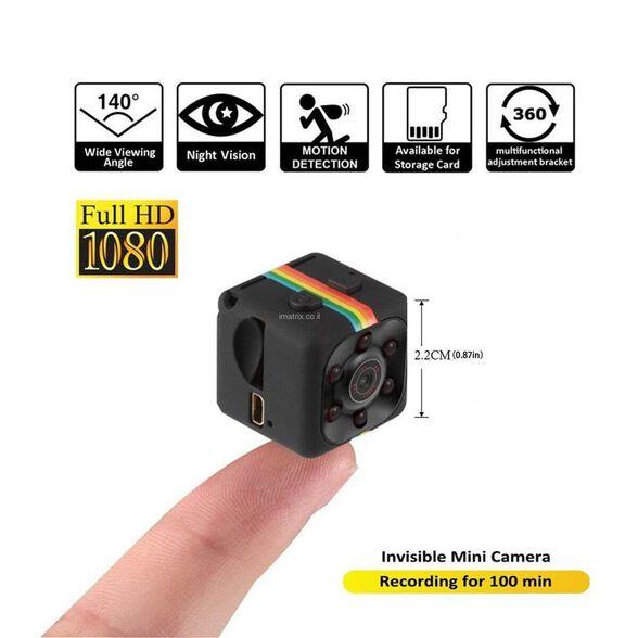 מצלמת ריגול זעירה FULL HD 1080P SPY CAM MICRO CAM DV | דגם MAT-SQ11 , , large image number null
