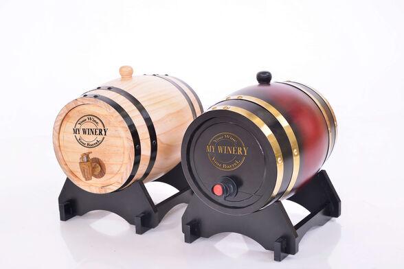 מתנה מיוחדת !! חבית יין פרטית מעץ משובח בעיצוב יוקרתי V.I.P  מלאה ב 3 ליטר יין כשר וניתנת להקדשה אישית !, , large image number null