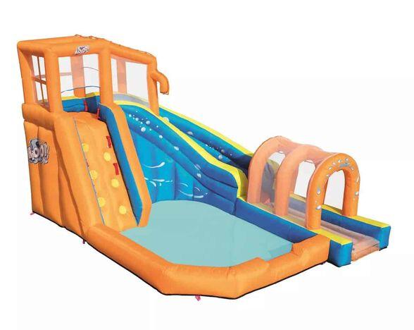 פארק מים מתנפח ביתי עם מגלשה וקיר טיפוס BESTWAY HURICANE 53303, , large image number null