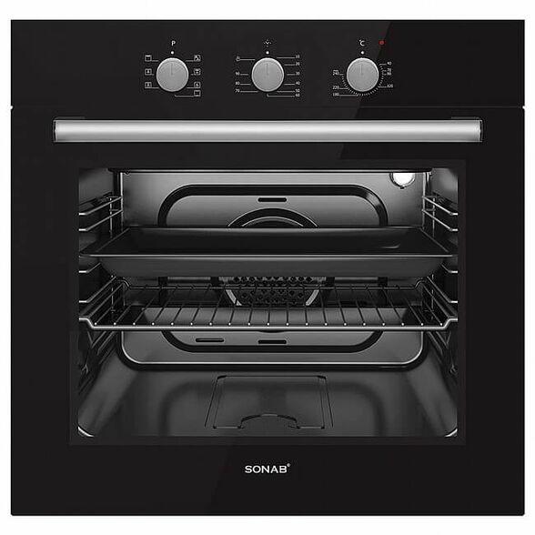 תנור בנוי נירוסטה 60 ליטר דירוג אנרגטי A מבית SONAB דגם  SN-5500 שחור|לבן _שחור, , large image number null