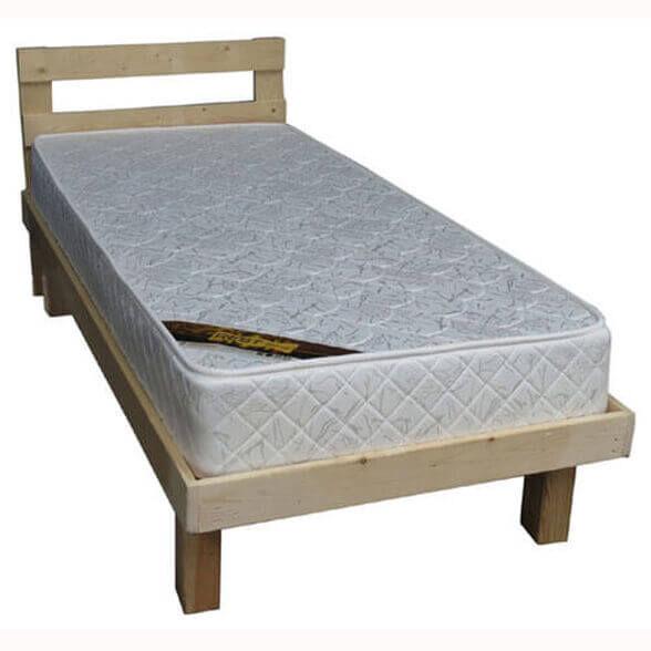 מיטת יחיד עץ מלא כולל ראש ומסגרת למזרן + מזרן קפיצים, מבית Or Design, דגם שרה, , large image number null