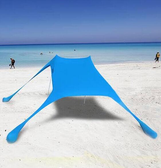 צילייה גדולה לחוף בגודל 2.30 * 2.30 מ'   דוחה מים סינון של עד 97% מהקרינה. צבע כחול, , large image number null