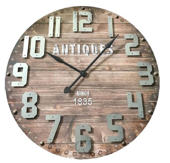שעון קיר ענק בעיצוב בית מלאכה וינטג' מבית TUDO DESIGN, , large image number null