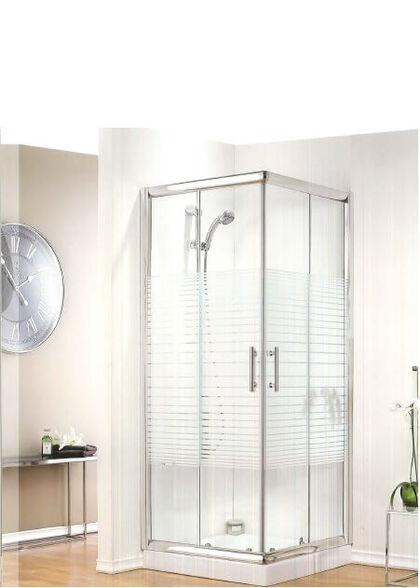 מקלחון הזזה פינתי אלון 5 | 2 דלתות הזזה | גודל לבחירה , , large image number null