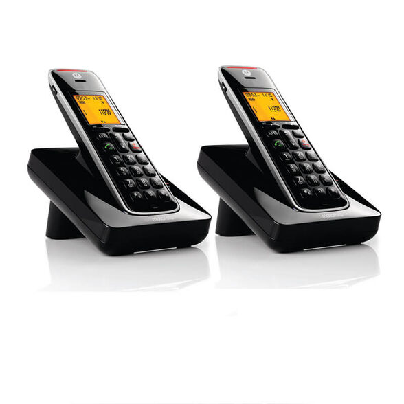 טלפון אלחוטי עם תפריט בעברית, דיבורית ושלוחה CD202IL , , large image number null