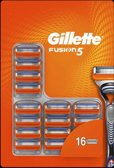 16 סכינים מסוג Gillette Fusion כוללים 5 להבים מדויקים - גילוח אחיד ויעיל, , large image number null