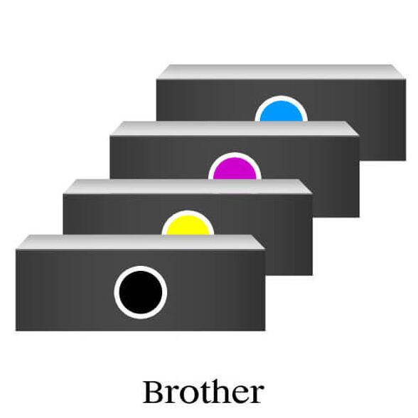 סט טונרים תואמים ברודר BROTHER TN210/230 - שחור, אדום, כחול וצהוב , , large image number null