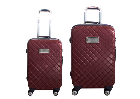 זוג מזוודות טומי 20/24 צבע בורדו מעויין , , large image number null