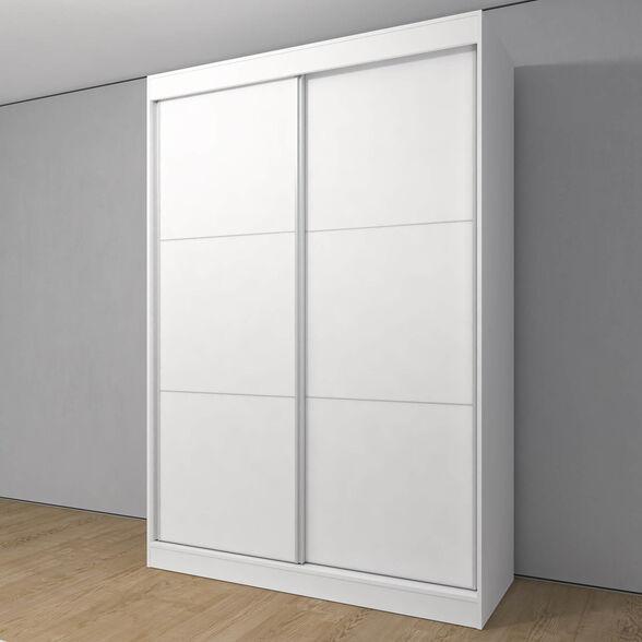 ארון מעוצב דגם TLV בעל 2 דלתות הזזה עשוי ממלמין יצוק עם מבנה חזק ועמיד במיוחד, כולל טריקות שקטות בדלתות הזזה | זוג מגירות פנים מתנה, , large image number null