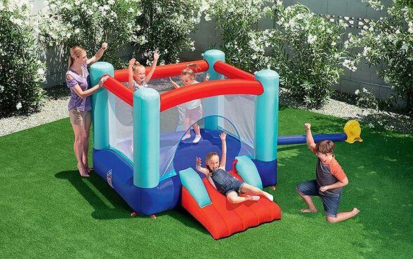 טרמפולינה פארק מתנפח לילדים Bestway קפיצה + גלישה, , large image number null