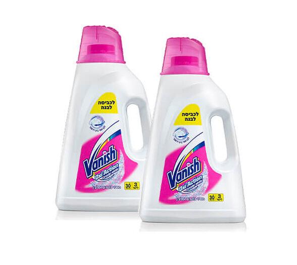 """2 בקבוקי נוזל כביסה מסיר כתמים ומלבין לכביסה  VANISH KALIA לבנה 6 ליטר סה""""כ, , large image number null"""