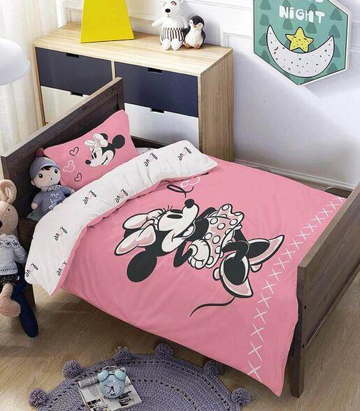 מצעים למיטת תינוק ומעבר 100% כותנה דגם מיני פינק, , large image number null
