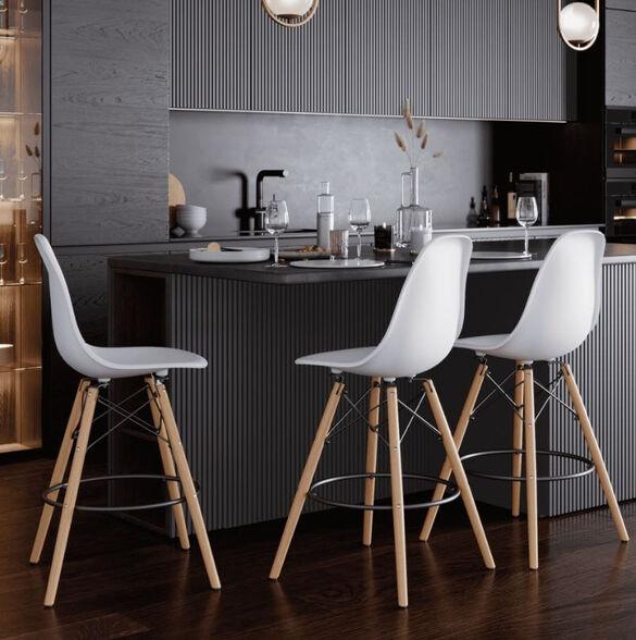 כיסא בר מודרני מעוצב דגם ממפיס   RAZCO_לבן, , large image number null