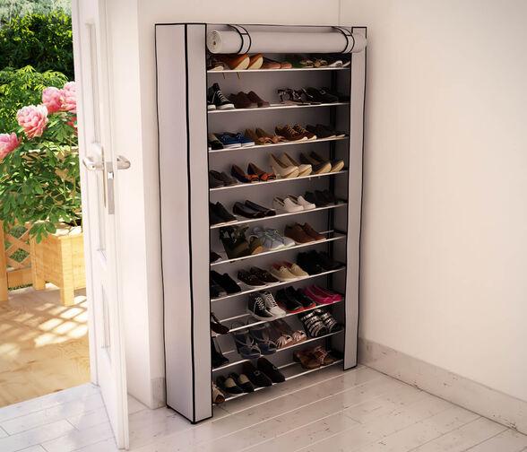 ארון נעליים מודולרי ל - 50 זוגות מבית Razco - ללא כיסוי_ארון ללא כיסוי-אפור, , large image number null