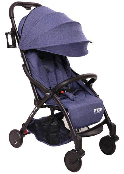 טיולון קומפקטי לתינוק עם קיפול אוטומטי טיק טק פלוס TIK TAK PLUS - ג'ינס/שלדה שחורה/עור שחור, , large image number null
