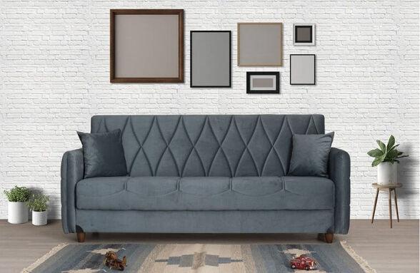 ספה תלת מושבית לסלון נפתחת למיטה דגם DEFNE | צבע אפור, , large image number null