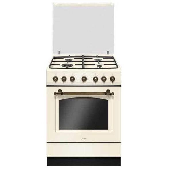 """תנור משולב כיריים 60 ס""""מ נפח תא אפייה 65.5 ליטר ובעל זכוכית דלת פנימית מתפרקת לניקוי קל ויסודי מבית SAUTER דגם RUSTIC 7000C , , large image number null"""