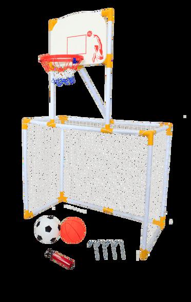 ערכת כדורגל + כדורסל 2 ב1, , large image number null