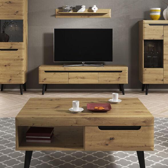 סט מזנון ושולחן מעוצבים בגימור מודרני תוצרת אירופה HOME DECOR דגם ארטיס , , large image number null