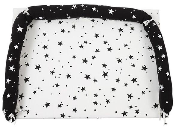 משטח החתלה לשידה עם כיסוי 100% כותנה - שחור כוכבים, , large image number null