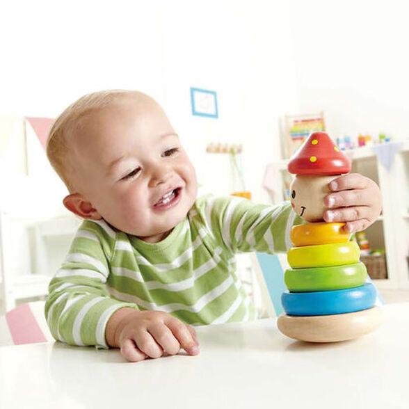 צעצוע השחלת צורות מעץ - ליצן, , large image number null