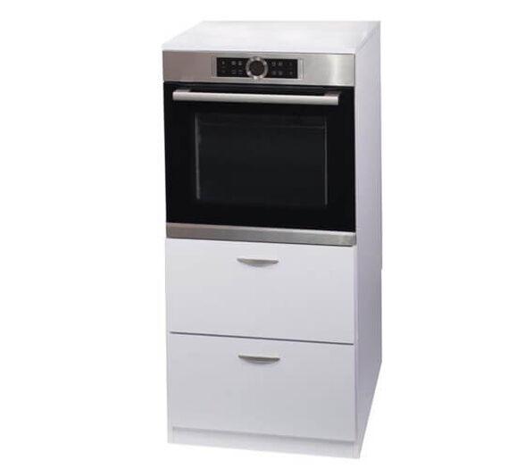 ארונית לתנור בנויי מוגבה בתוספת 2 מגירות איחסון, , large image number null