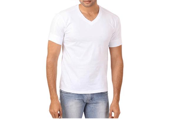 מארז 6 חולצות וי יוניסקס Hanes בצבע לבן, , large image number null