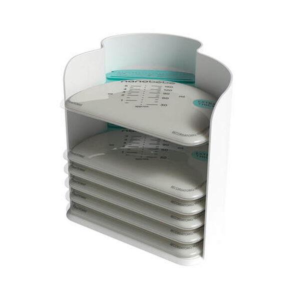 25 שקיות חלב אם לאחסון והקפאה כולל מעמד אחסון ננובבה nanobebe, , large image number null