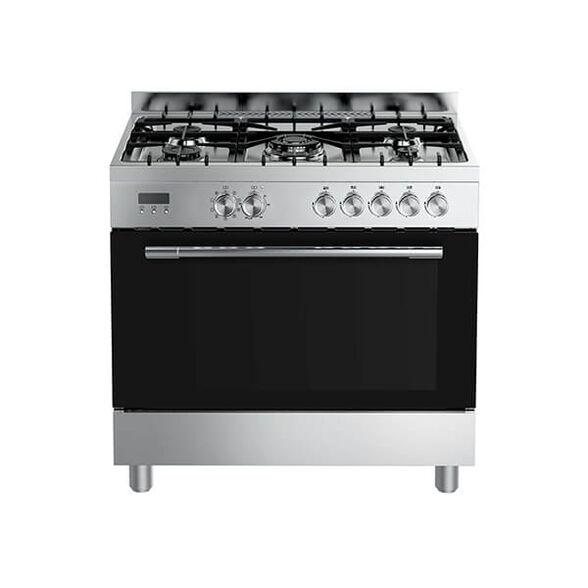 תנור אפייה עומד משולב בנפח 109 ליטר, 9 תכניות לבישול ואפייה בהתאמה אישית ובעל דלת עם 3 שכבות זכוכית מחוסמת מבית MIDEA דגם 36QMS5GP48 , , large image number null