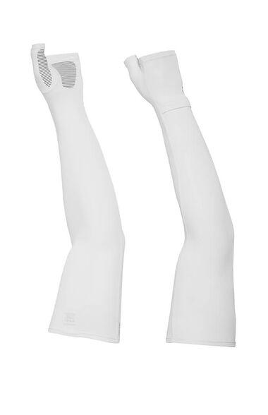 שרוולים נגד שמש  Uvshield Cool Sleeves המתאימים לכל פעילות ספורט ופנאי מבית SUNDAY AFTERNOONS_צבע לבן-S/M, , large image number null
