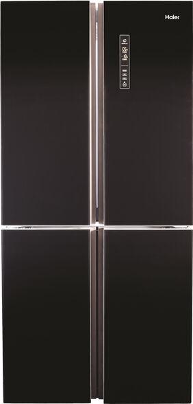 מקרר 4 דלתות 651 ליטר Open Space Inverter דגם -HRF-4626FB  מבית HAIER שיטת הקפאה No Frost    בגימור שחור זכוכית ודירוג אנרגטי A יעיל במיוחד!  , , large image number null