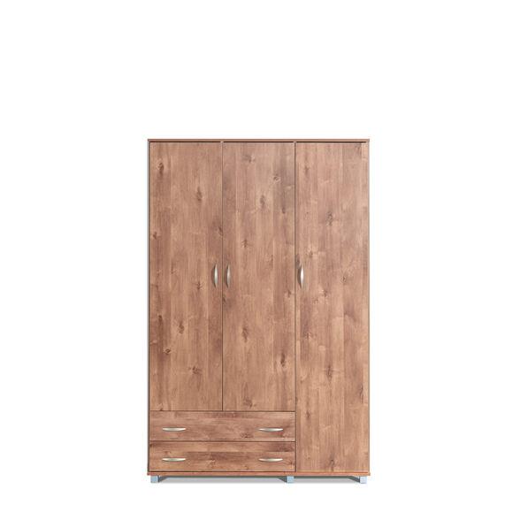 ארון 3 דלתות 2 מגירות המשלב מדפי אחסון מרובים במגוון צבעים דגם דן מבית רהיטי יראון תוצרת ישראל_שיטה, , large image number null